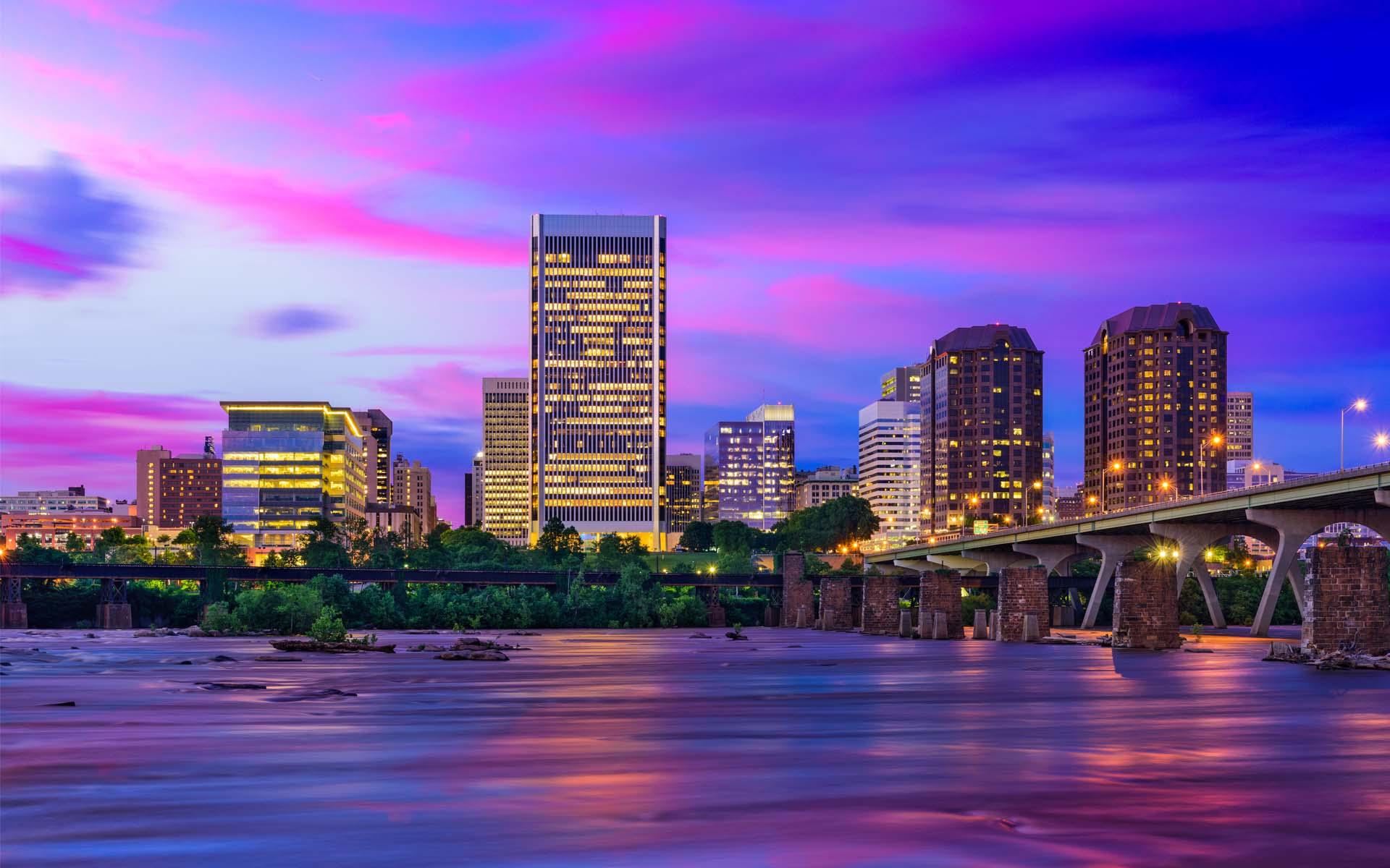 Virginia Commonwealth Homepage - Richmond Skyline ...